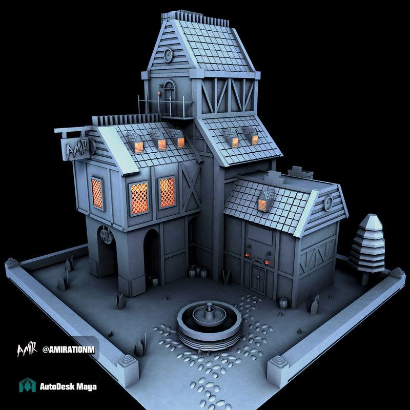 3D model house animation