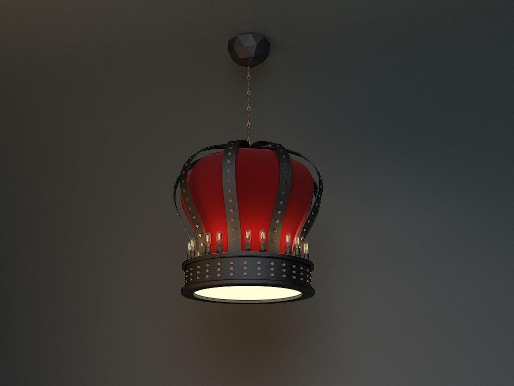 authentic lamp 3D model