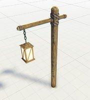 3D lantern medieval