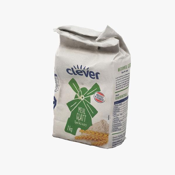 pack flour 3D model
