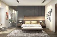 3D bedroom dressing bed model