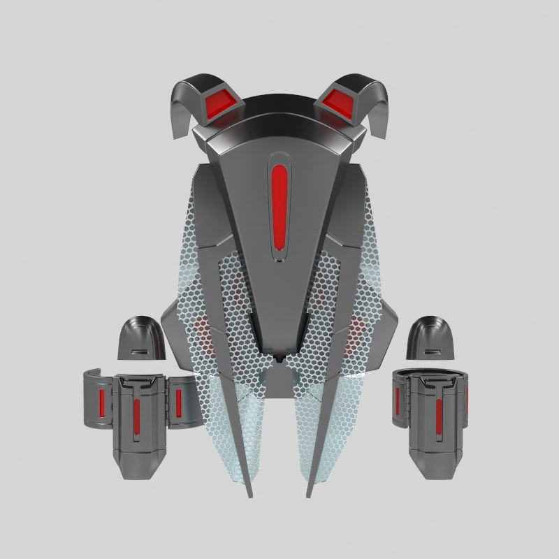 backpack bracer wasp 3D model