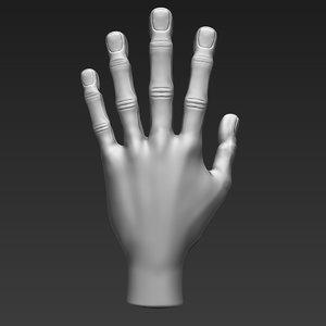 stylized hand model