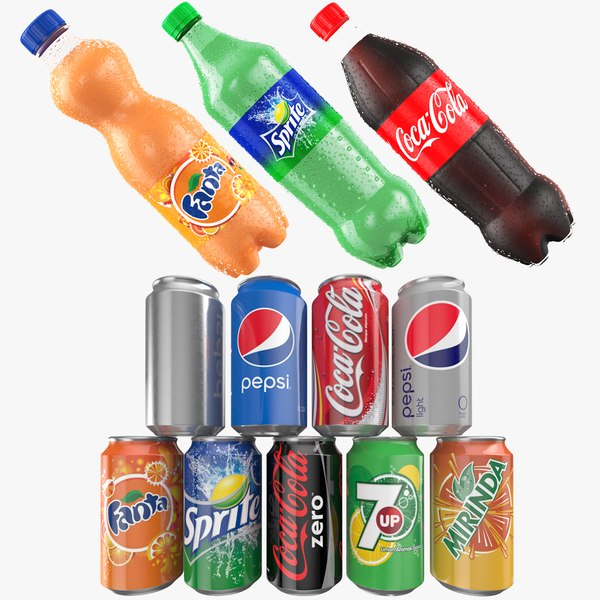 3D cans soda model