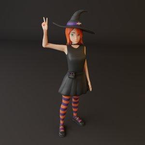 girl cartoon model