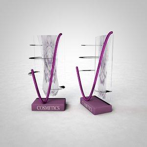 3D gandola cosmetics