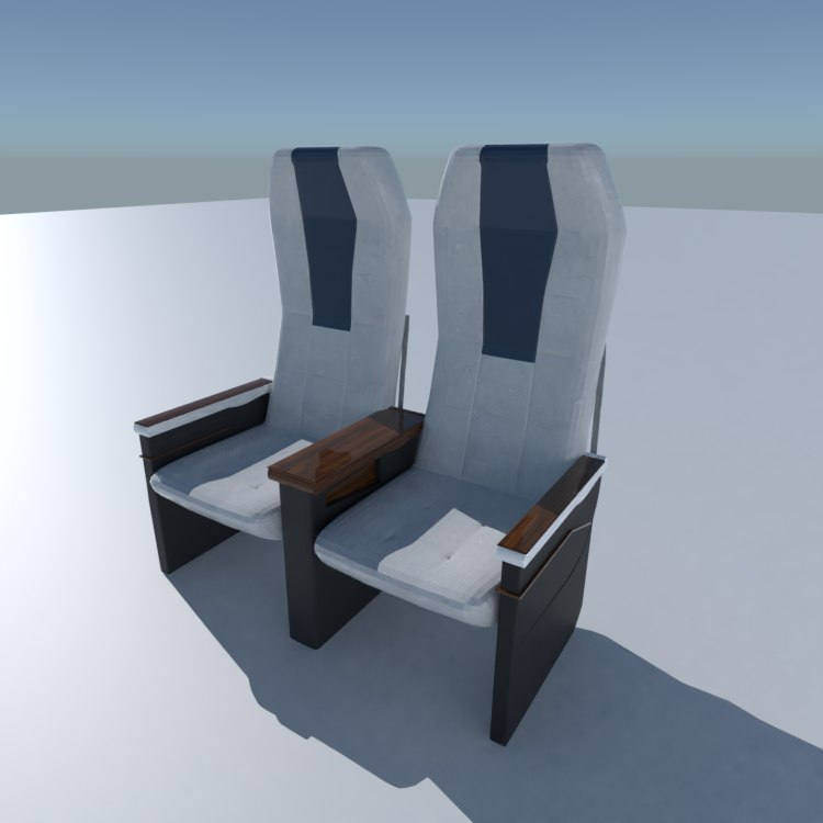 3D airplane aircraft seat chair model