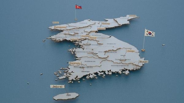 south korea animation 3D model