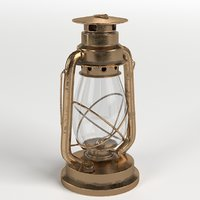 3D kerosene lamp model