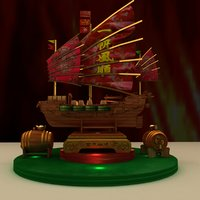 3D chinese junk model