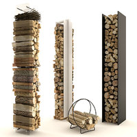 firewood set 1 3D model