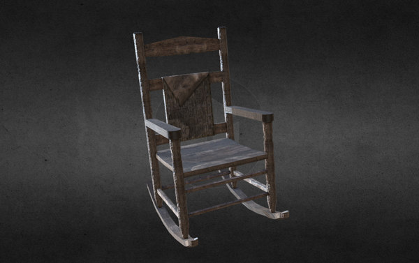 3D antique rocking chair animation model