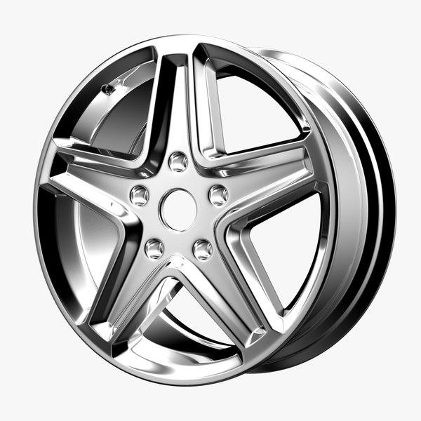 wheel chromed 17 model