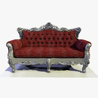 3D baroque classic chair
