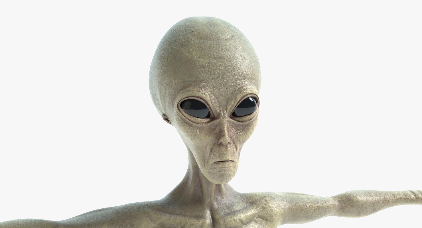 alien pbr polys 3D model