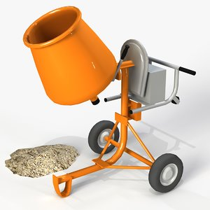3D cement mixer model