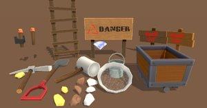 props mining 3D model