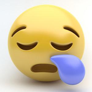 3D emoji sleepy model