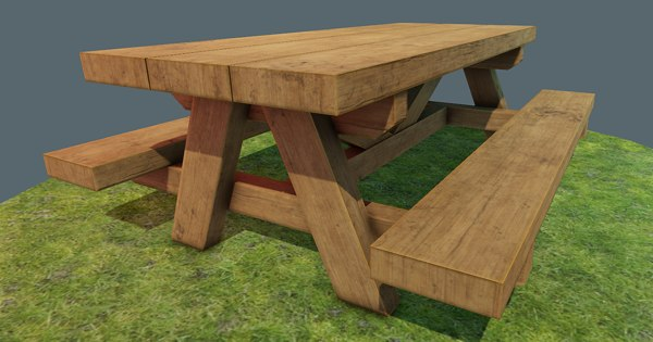 picnic wood 3D model