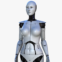 Female Robot V3 [Rigged]