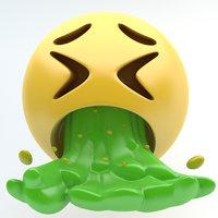emoji vomiting 3D