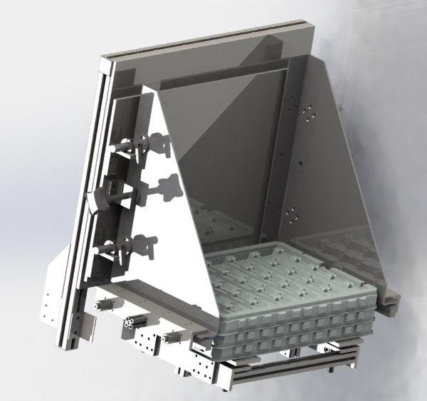 tray loading mechanism 3D