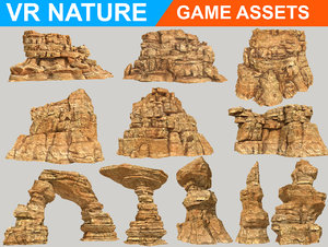 3D realistic canyon desert pack