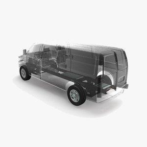 electric van x-ray 3D model