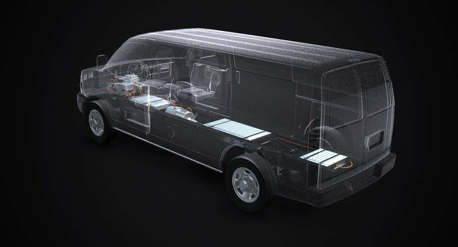 electric van x-ray 3D model