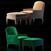 3D boyd chair ottoman