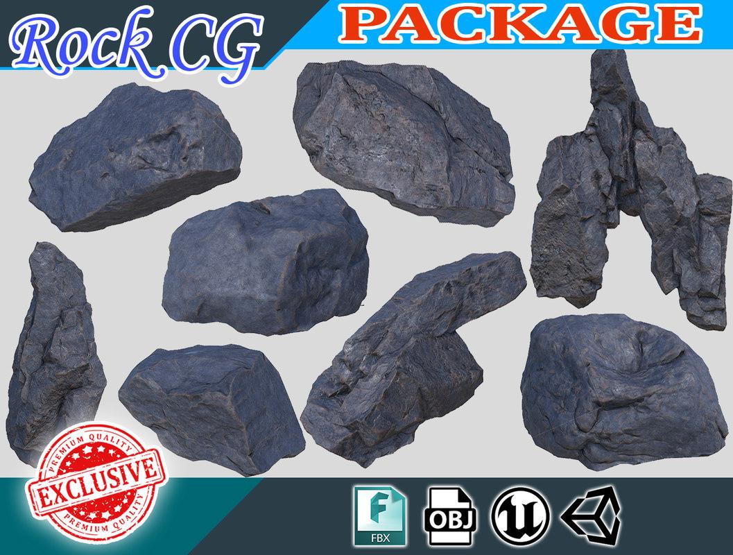 black rock package 180913 3D model