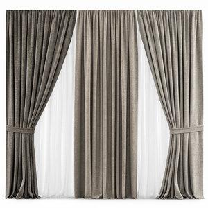 3D curtains 27 model