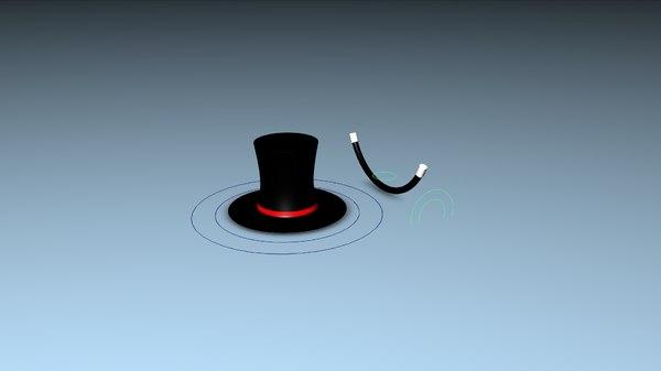 magic hat rig 3D model