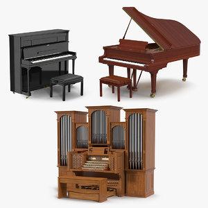 3D keyboard instruments model