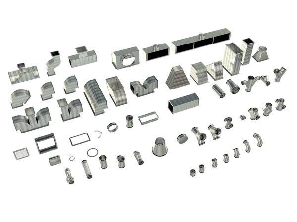 3D parts set