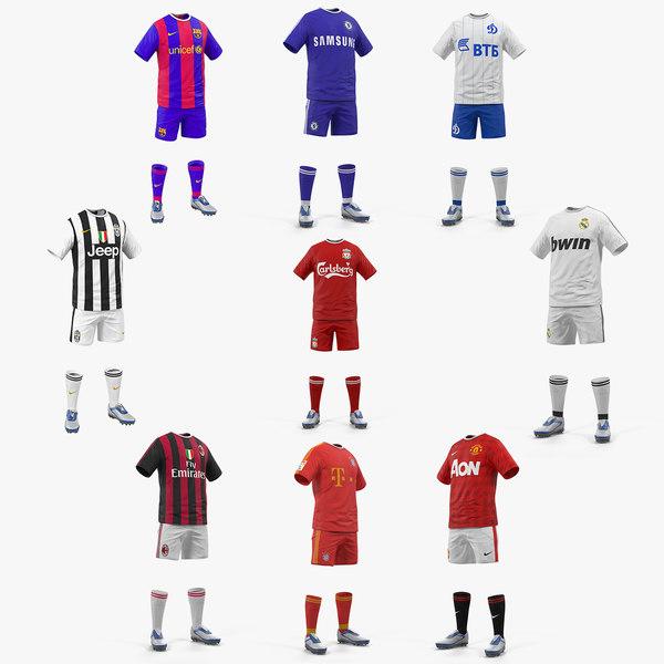 3D soccer uniforms 2 model