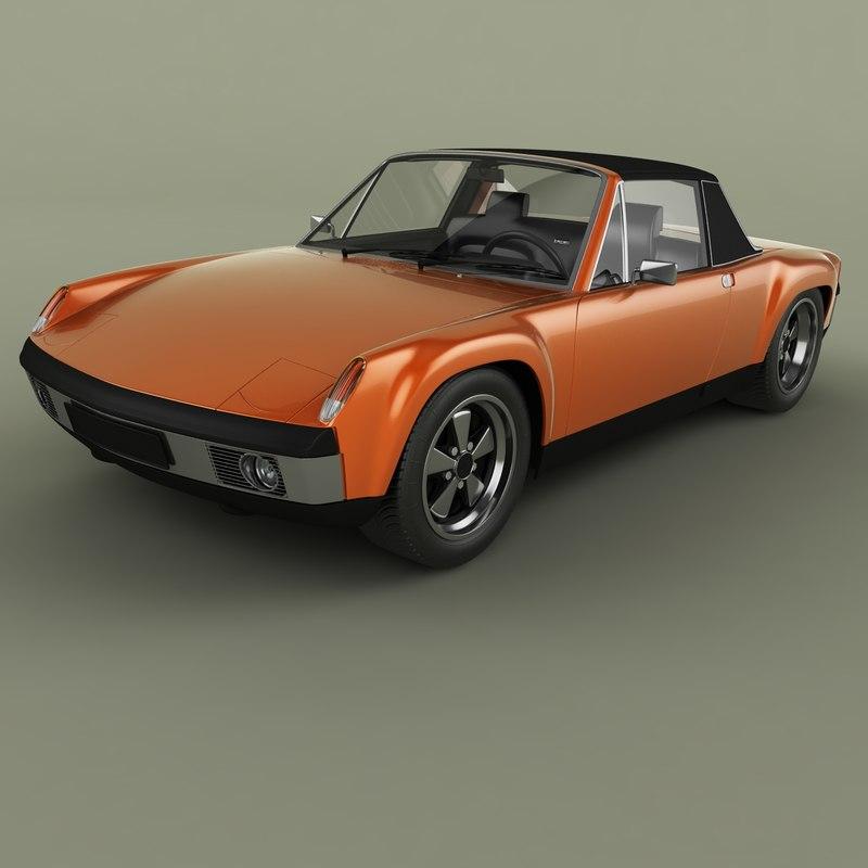 1970 porsche 914-6 gt 3D model