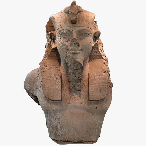 bust king amenhotep iii 3D model