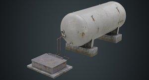 3D model industrial gas tank 2b