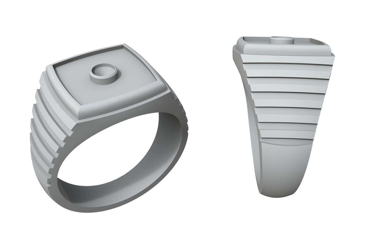 3D model jewelry stylish gold ring