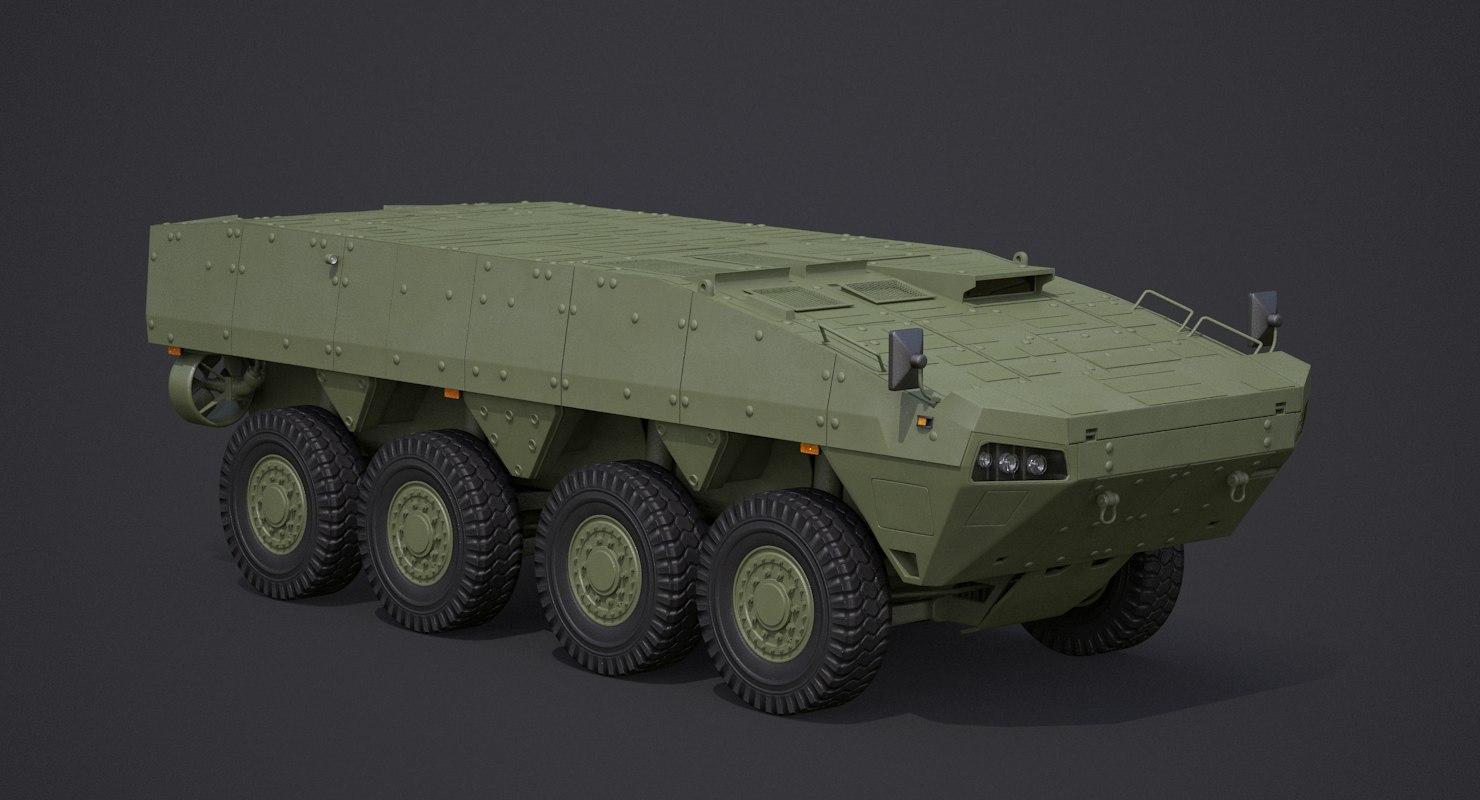 3D patria amv base hull