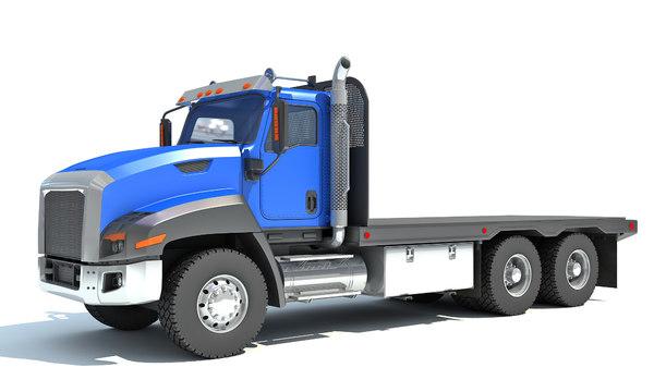 flatbed truck 3D model