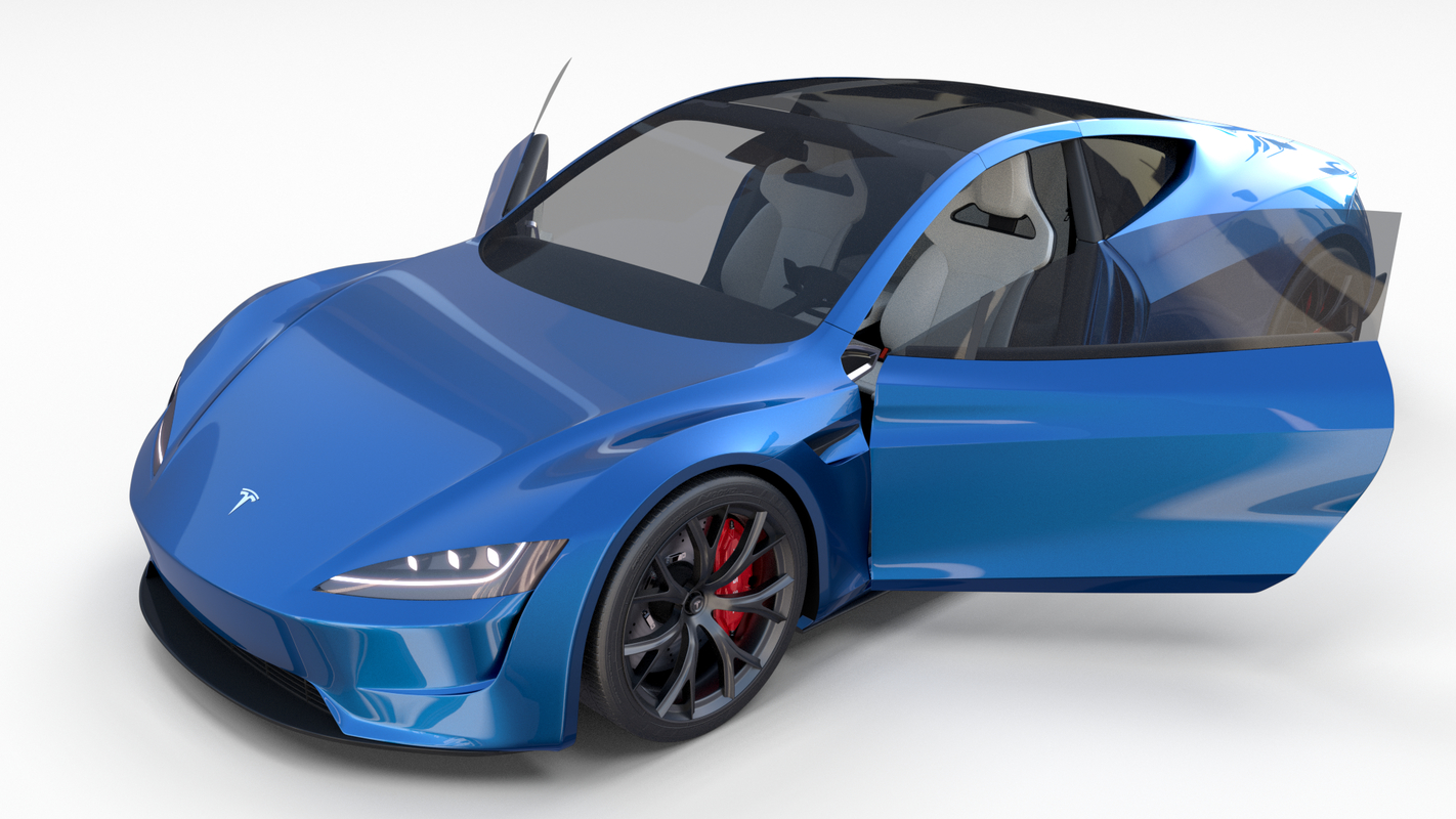3D tesla roadster interior