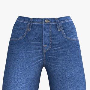 3D jeans woman model