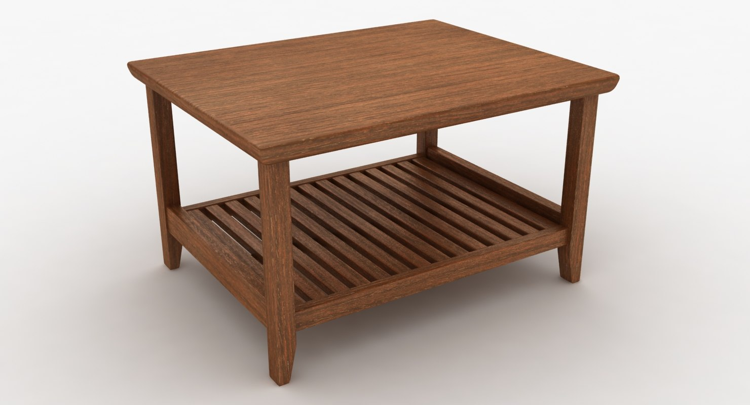 3D wooden teapoy table
