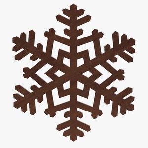 3D snowflake snow flake