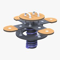 flying saucer seesaw 3D