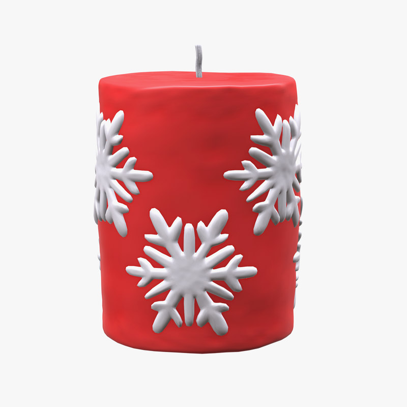 candle christmas 3D model