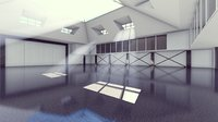 hall interior 3D model
