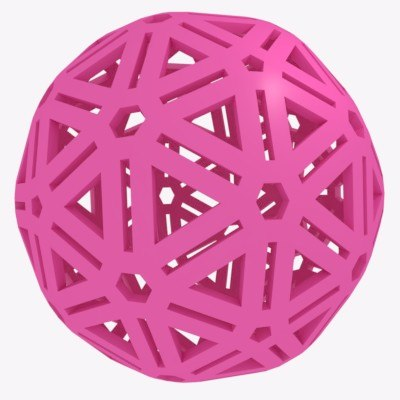3D sphere rubber ball dogs